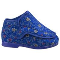 GBS Rhona Slipper Touch Fastening Ladies Bootees Blue